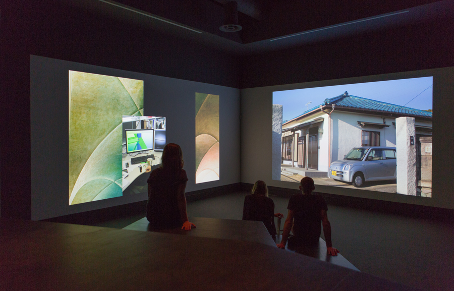 Wolfgang Tillmans - <i>Book for Architects.</i> Two channel video installation in Elements of Architecture Central Pavilion, 14th Architecture Biennale Venice, curated by Rem Koolhaas